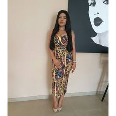 BellaNaija Weddings presents – – The Latest Aso Ebi Styles African Inspired Fashion, African Dresses For Women, African Print Fashion, African Attire, African Wear, African Fashion Dresses, African Women, Ankara Fashion, African Prints