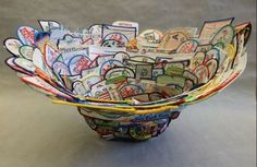 patches made into a bowl