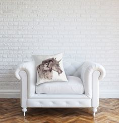 Faerie & Unicorn Cushion Cover Fairy Fae by GingerKellyStudio