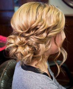 Beautiful Bridal Look Medium Curly Hairstyles