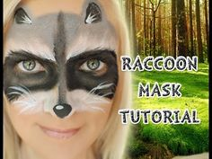 """Hope you guys like this fun & easy raccoon mask tutorial Click """"SHOW MORE"""" tab below to see links to all products used, including the applicator! Raccoon Makeup, Raccoon Mask, Raccoon Costume, Racoon, Raccoon Craft, Animal Face Paintings, Animal Faces, Face Painting Tutorials, Face Painting Designs"""