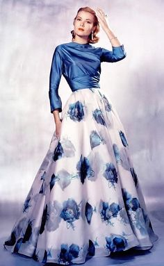 Grace Kelly wearing a gown designed by Edith Head, 1956.