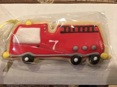 Fire Truck Cookies