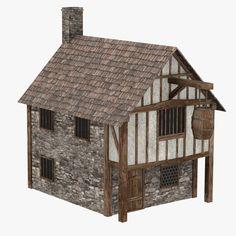 3D Model Of Medieval House - 3D Model