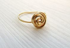 Hey, I found this really awesome Etsy listing at https://www.etsy.com/listing/165961174/sale-gold-rose-ring-delicate-ring-sweet