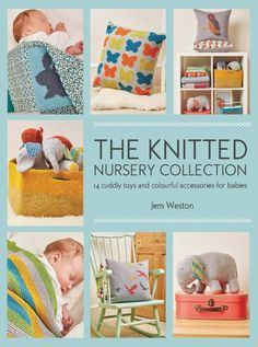 The Knitted Nursery Collection: 14 Cuddly Toys and Colourful Accessories for Babies book review with excerpted pattern (Ollie and Polly Blankets) via Underground Crafter