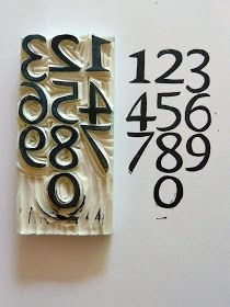 #papercraft handmade stamp. Numbers