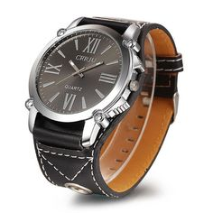 2016 new male luxury watches famous brands Classic Fashion Luxury Unisex Analog Roman Big Dial Quartz Sport Leather Wrist Watch - Watch Shop Big Watches, Casual Watches, Luxury Watches, Watches For Men, Wrist Watches, Mens Watches Leather, Leather Men, Leather Case, Leather Belts