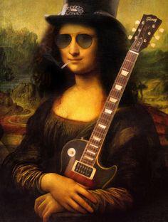 15 versões da Mona Lisa que Leonardo da Vinci nunca imaginou Guns N Roses, Monalisa Wallpaper, Rock And Roll, Art Visionnaire, La Madone, Mona Lisa Parody, Mona Lisa Smile, Wow Art, Arte Pop