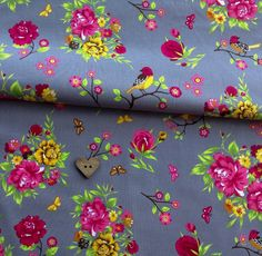 bird garden fabric, extra wide european cotton £9.60pm