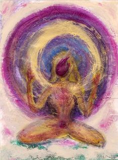 Illustration about Abstract woman painting with energy aura. (Original art available contact Elena Ray Acrylic on collaged and very textural papers 9 x Illustration of alternative, knowledge, congratulations - 946729 Kunst Inspo, Art Inspo, Yoga Kunst, Spiritual Paintings, Art Tumblr, Sacred Feminine, Yoga Art, Domestic Violence, Art Design