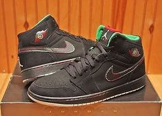 2008 Nike Air Jordan I Retro 1 Cinco De Mayo Size 12 -Black Red Green-136065 107