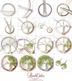 of Life Earring Tutorial - - Dale - . - Fashion - Tree of Life earring tutorial Dale -Tree of Life Earring Tutorial - - Dale - . - Fashion - Tree of Life earring tutorial Dale - tutorial on making with Jewelry Repair Store Near Me Now alt. Diy Jewelry Rings, Diy Jewelry To Sell, Diy Jewelry Tutorials, Wire Jewelry, Jewelry Crafts, Handmade Jewelry, Wire Earrings, Jewellery, Diy Rings