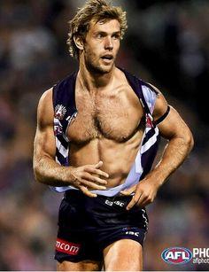 Matt De Boer Fremantle Dockers match against Sydney Swans on ANZAC day. Freo won of course ; Soccer Pro, Football Players, Anzac Day, Sport Man, Rugby, Sporty, Men, Body Builders, Hubba Hubba