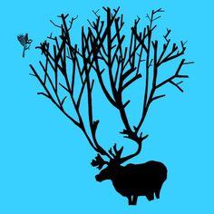 Reno - Diseño de Orosia Satué Reno, Moose Art, Animals, Animales, Animaux, Animal, Animais