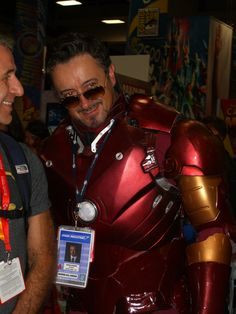 Tony... freaking... Stark. The real Downey? Who knows...