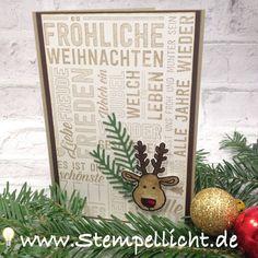 Weihnachtskarten mit Weihnachtspotpourri und Weihnachtsschlitten von Stampin´Up!