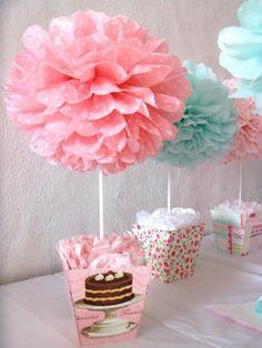 15 Hermosas ideas para un baby shower rosa Baby Shower Centerpieces, Party Centerpieces, Shower Party, Baby Shower Parties, Baby Boy Shower, Baby Shower Gifts, Diy And Crafts, Paper Crafts, Neon Crafts