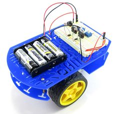 "In the ""Build a Speedy Light-Tracking Robot (BlueBot Project #2)"" robotics project, students use the BlueBot kit to build a #robot that uses a simple circuit to follow light. [Source: Science Buddies, http://www.sciencebuddies.org/science-fair-projects/project_ideas/Robotics_p022.shtml?from=Pinterest] #STEM #scienceproject #science #robotics #bluebot"