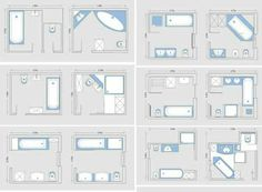Visual Guide to 15 Bathroom Floor Plans Bathroom plans Third