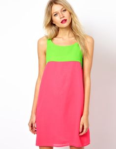 Color Block Dress - Love the colors