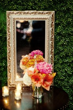 love combo of rich, gold mirrors and candle light - throw in some crystal cut anything and i'm sold :)