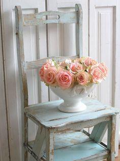 Romantic Rose Embellished  Shabby Chic Decorative by shabbychatue, $15.00