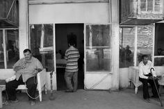 Baghdad 2011,Hassan Ajami cafe in Baghdad's Rasheed Street.#Photography #Iraq #Baghdad #black and white #Documentary #People