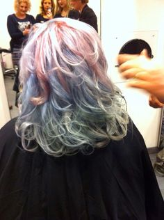 #Wella #instamatic. #Pink dream #ocean storm and #jaded mint. My little pony hair :)