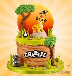 Lion king cake by iratorte Lion Guard Birthday Cake, Lion King Birthday, Baby Birthday Cakes, Lion Cakes, Lion King Cakes, Lion Gaurd Cake, Lion King Party, Lion Party, Cake Design Inspiration