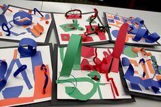 Art project inspired by Alexander Calder sculptures.