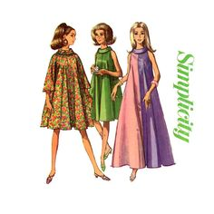 1960s Tent Trapeze Dress Pattern Simplicity 6794 by CynicalGirl, $18.00