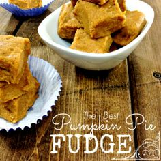 If you love Pumpkin Pie or Pumpkin Pie Filling, you will LOVE this Pumpkin Pie FUDGE!!  Moist and delicious it's a perfect dessert!