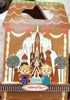 Disney Pin Frozen Elsa Anna WDW Gingerbread House Pin Limited Olaf