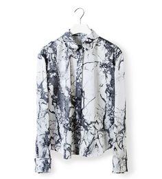 BALENCIAGA Marble print shirt