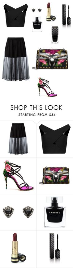 """#80"" by mvitoriam ❤ liked on Polyvore featuring Givenchy, Michelle Mason, Dolce&Gabbana, Gucci, Nak Armstrong and Narciso Rodriguez"