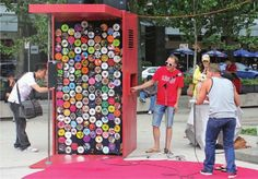 .The Sing! Karaoke Kiosk is an interactive multilingual installation designed by the Urban Republic Arts Society-