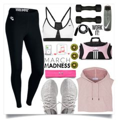 """""""WORK IT!"""" by brunna006 on Polyvore featuring Casall, NIKE, adidas Originals, Under Armour, adidas and Happy Plugs"""