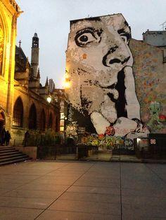 Wall Art near the Centre Pompidou, Paris.