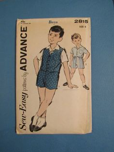1960s Sew Easy Pattern By Advance Number 2815 by VendageTresors