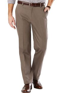 Dockers D3 Signature Khaki Pants Mens Flat Front No Wrinkle Classic Fit Chinos #DOCKERS #KhakisChinos