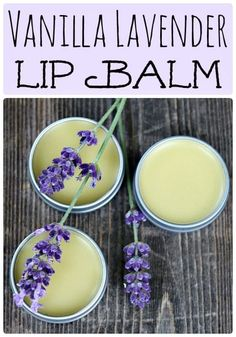 Vanilla Lavender Lip Balm Ingredients  1/2 cup vanilla lavender infused oil 1 ounce beeswax 1/2 ounce shea butter 8-16 drops lavender essential oil