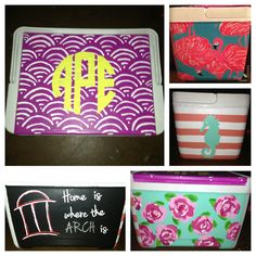Ansley painted a cooler for herself for the summer! She must be really busy working on mine cause I ain't seen it yet! :|