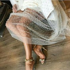 Tulle whimsy & sparkles // i want her legs // but since i'll take the dress too. Mode Inspiration, Wedding Inspiration, Look Fashion, Womens Fashion, 90s Fashion, Classy Fashion, Fashion Belts, High Fashion, Fashion Shoes
