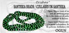 Santeria Beads for God Ogun