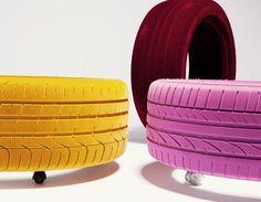 Das Reifen Recycling Ist Eine Gute Idee Für Den Garten, Aber Jetzt  Präsentieren Wir Ihnen Einen Interessanten Couchtisch Aus Autoreifen Für  Den Innenbereich
