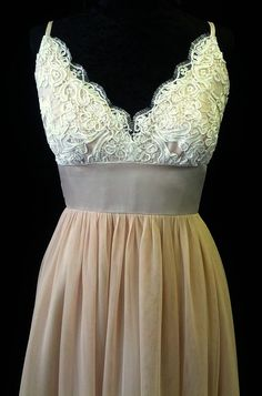 Blush Pink Lace Boho Vintage Dress by BellaVittoria on Etsy, $1245.00