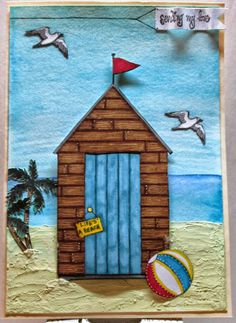 Just posted this beach inspired card on my blog for the #happydays Handmade Harbour challenge!! Make sure to stop by my blog: scrapbookscraftscards.blogspot.com for full details!!