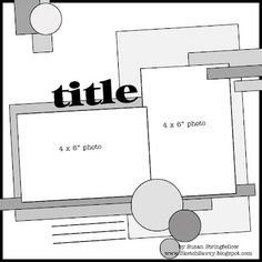Scrapbook Page Layout Sketch #CreativeMemories #Sketches #Scrapbooking