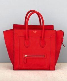 3a2c47609e Celine tote in lipstick red Celine Bag Luggage